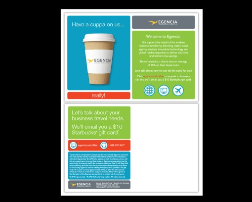 DESIGN + PRODUCTION + COPYWRITING + ART DIRECTION. in an effort to increase their presence in the canadian market - egencia came to me with an interesting idea of targeting executive assistants and those who take care of corporate travel and event co-ordination. cheekily - rewarding the ones who do the leg-work!