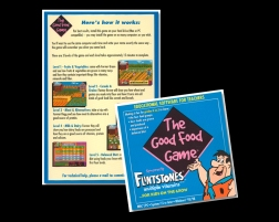 my role DESIGN + PRODUCTION + STORYBOARDING + LOTS OF GAME PLAY (no coding) agency HORIZON / COMMIX. an interactive game and collateral package made available to teachers. honing in on the younger kids from K-3, playing a video game while learning about good food choices