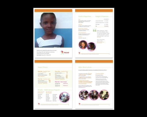 my role CREATIVE + ART DIRECTION i applied online at unv.org to a request from phillip appiah at PAAJAF in ghana. he reached out with a copy deck, images, logo and within about 2 days, this was completed and sent off to his donor for continued funding. incredible. the world really isn't that big! thank you phillip!