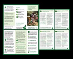 DESIGN, PRODUCTION + ART DIRECTION caepa cameroon requested a corporate brochure outlining accomplishments to date and infographics for specific programs. their site was also redesigned and organized. completed in association with UNvolunteers. thanks keghah!