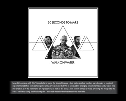 DESIGN when you hear that a band you love requests artwork ideas... you CREATE. a metric s••t-tonne of artworks were uploaded... but you never know - tomo, shannon and jared might see this someday. stranger things have happened! #walkonwater #30secondstomars #thirtysecondstomars #jaredleto #tomofromearth #shannonleto