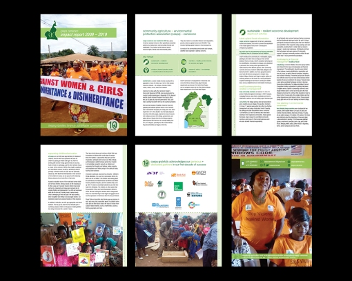 DESIGN + PRODUCTION + EDITING a 10 year impact report highlighting the accomplishments of this great organization serving the people of Cameroon's North West Region and surrounding communities.